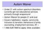autism waiver
