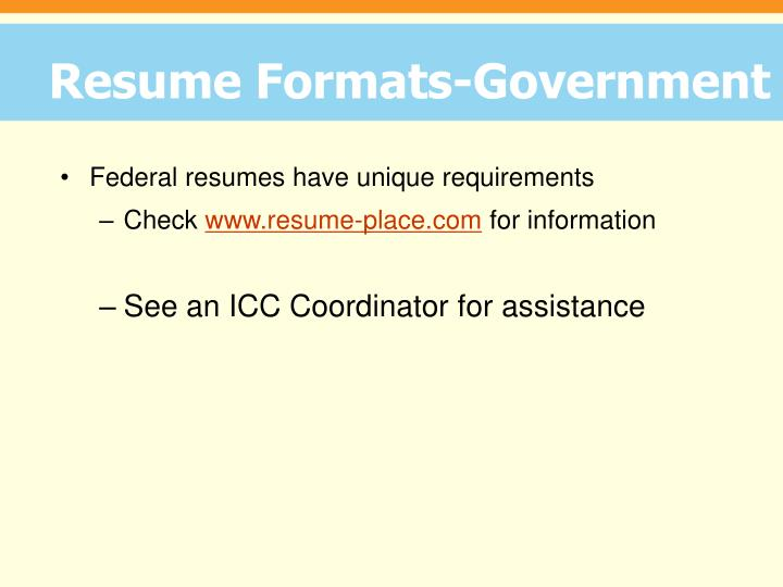 Resume Formats-Government