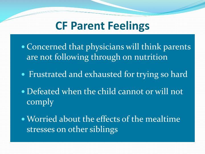CF Parent Feelings