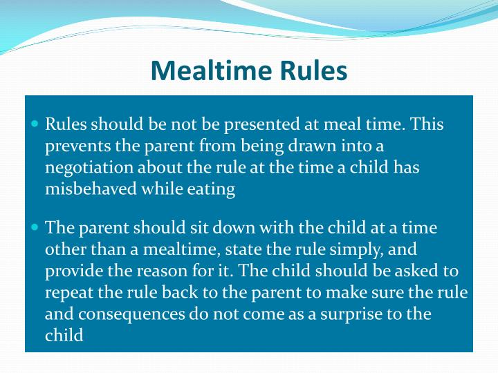 Mealtime Rules