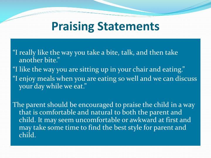 Praising Statements