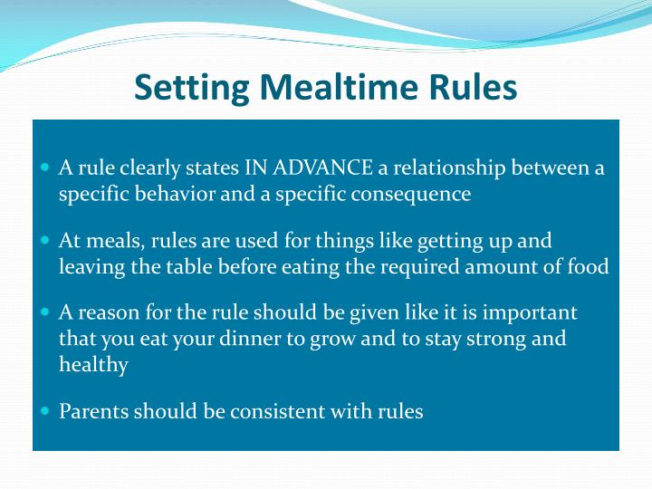 Setting Mealtime Rules