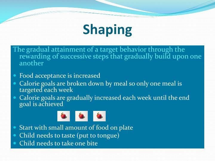 Shaping