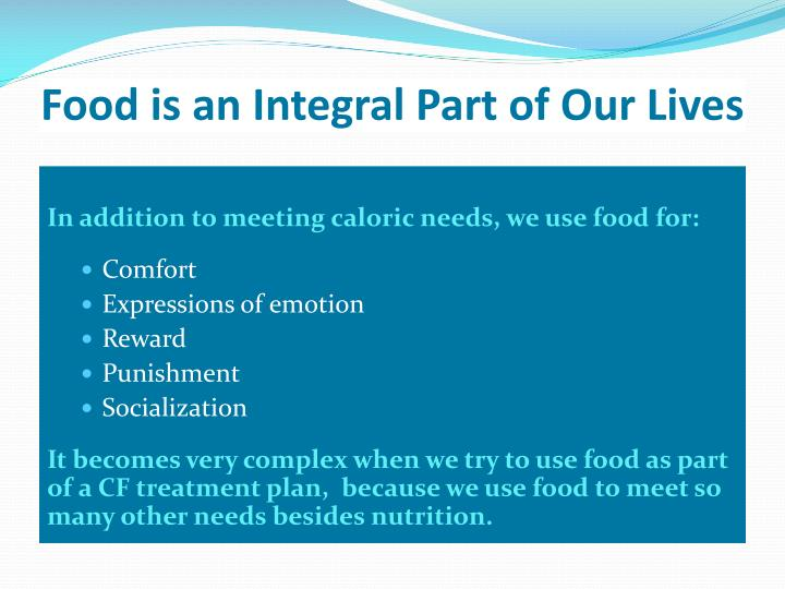 Food is an Integral Part of Our Lives