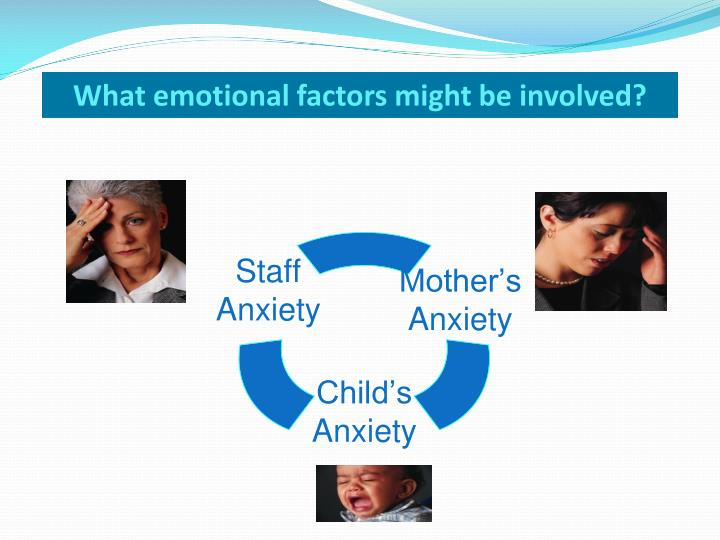 What emotional factors might be involved?