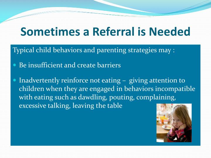 Sometimes a Referral is Needed