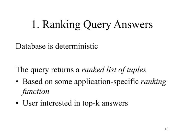 1. Ranking Query Answers