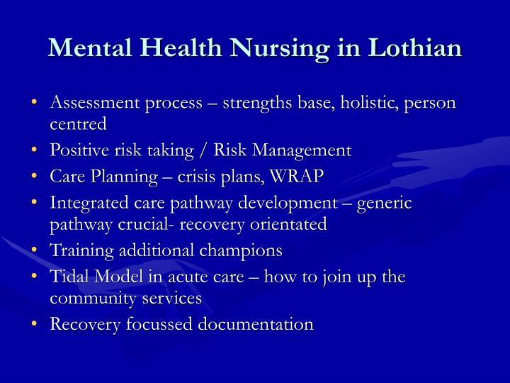 Mental Health Nursing in Lothian