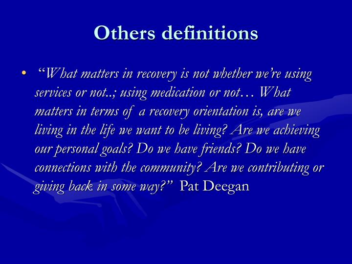 Others definitions