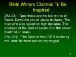 bible writers claimed to be inspired5