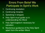 errors from belief we participate in spirit s work