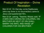 product of inspiration divine revelation6