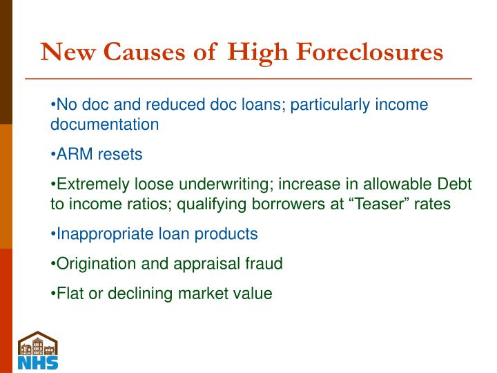 New Causes of High Foreclosures
