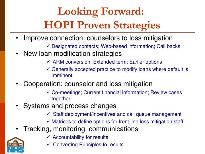 Looking Forward:
