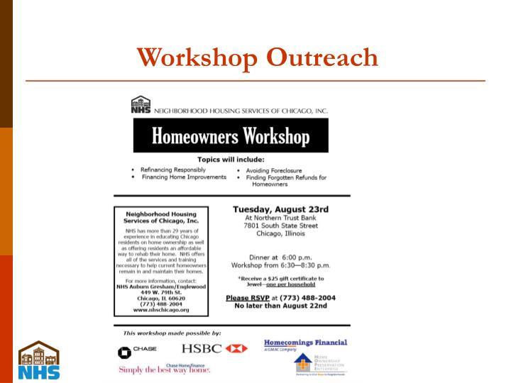 Workshop Outreach