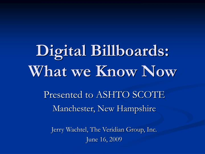 digital billboards what we know now