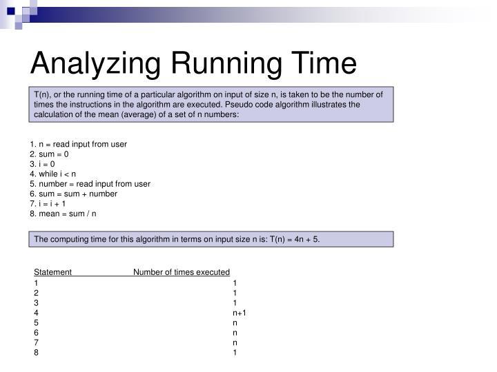 Analyzing Running Time
