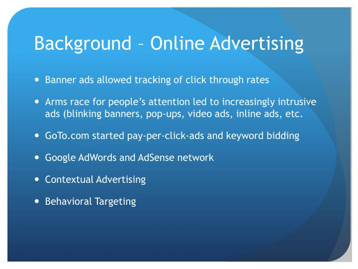 Background online advertising