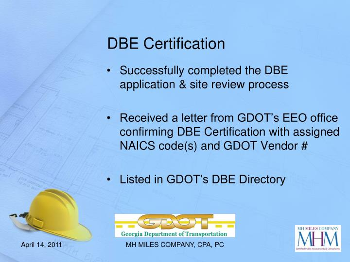 DBE Certification