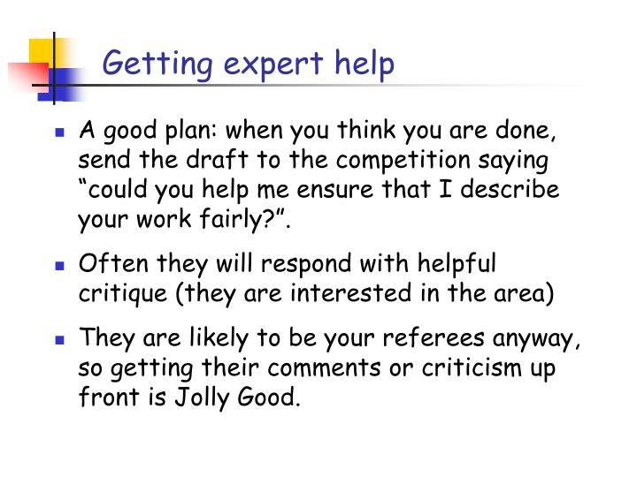 Getting expert help
