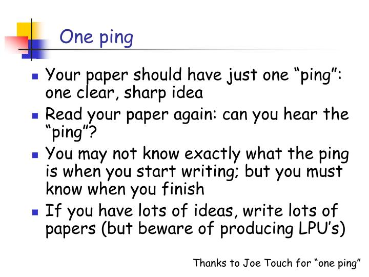 One ping