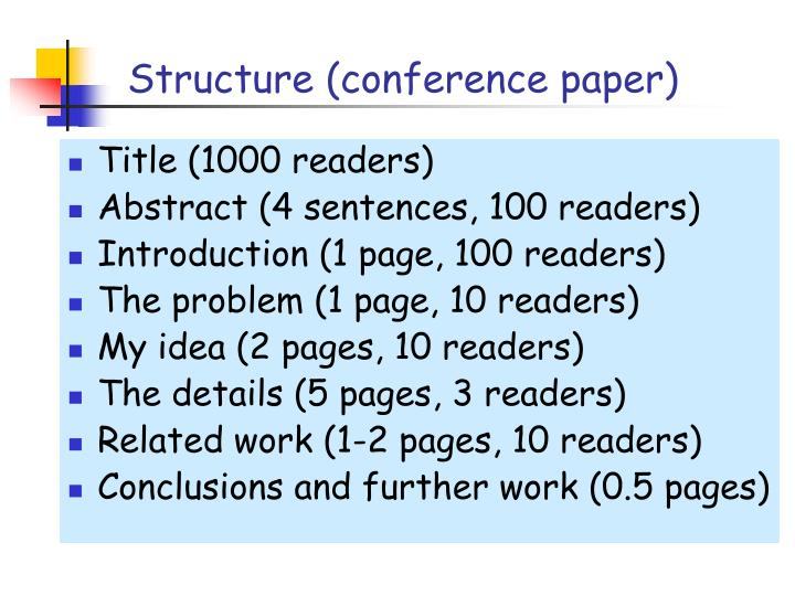 Structure (conference paper)
