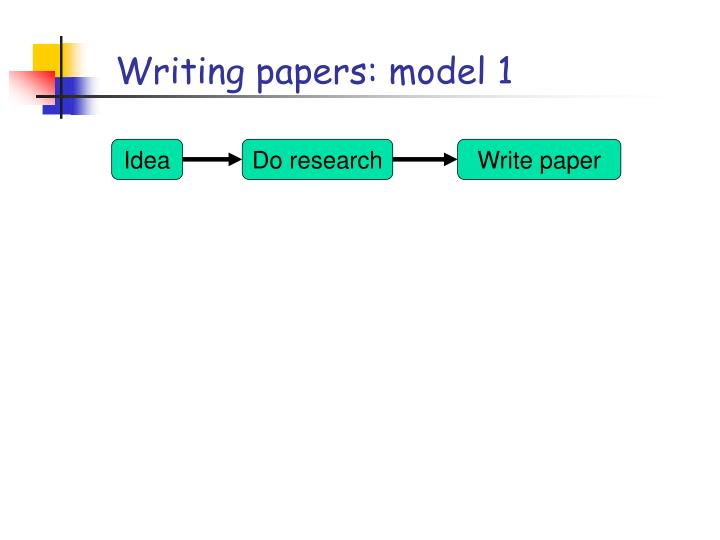 Writing papers: model 1