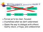 writing papers provocative model 2