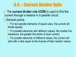 6 6 current divider rule