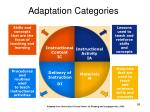 adaptation categories