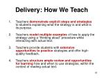 delivery how we teach