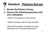 handout phonics survey