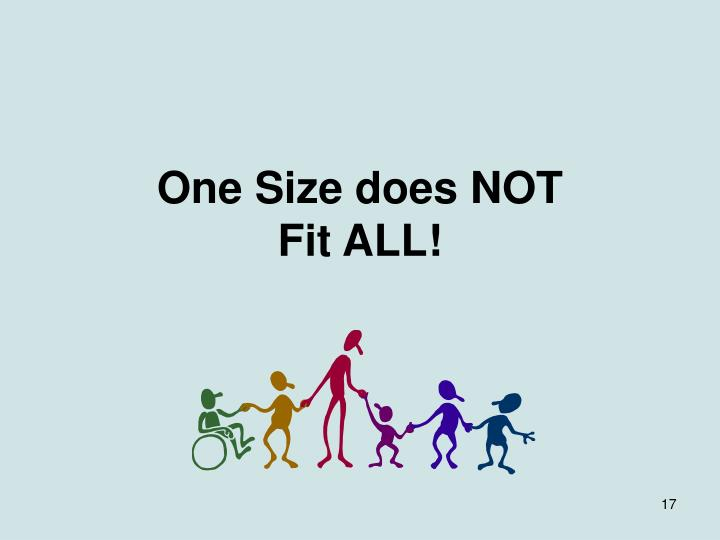 One Size does NOT