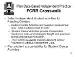 plan data based independent practice fcrr crosswalk