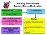 planning differentiated teacher directed instruction