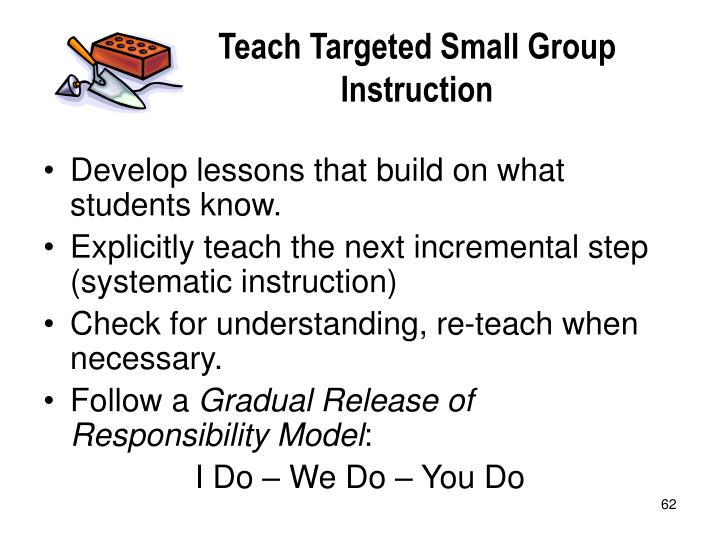 Teach Targeted Small Group Instruction
