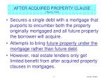 after acquired property clause text p 416