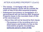 after acquired property cont d