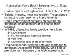 associates home equity services inc v troup text p 427