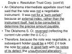 doyle v resolution trust corp cont d1