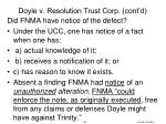 doyle v resolution trust corp cont d2