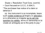 doyle v resolution trust corp cont d4