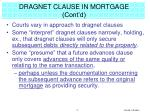 dragnet clause in mortgage cont d
