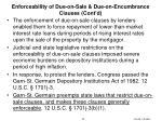 enforceability of due on sale due on encumbrance clauses cont d