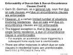 enforceability of due on sale due on encumbrance clauses cont d1