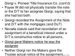 giorgi v pioneer title insurance co cont d