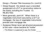 giorgi v pioneer title insurance co cont d3