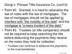giorgi v pioneer title insurance co cont d5