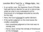 junction bit tool co v village apts inc supp p 39
