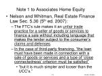 note 1 to associates home equity